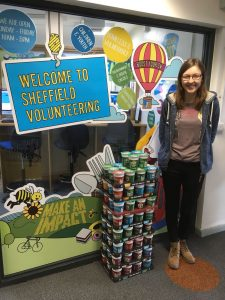 Emma at the volunteer centre