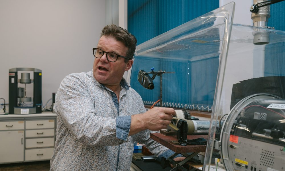 Tony Ryan in his lab