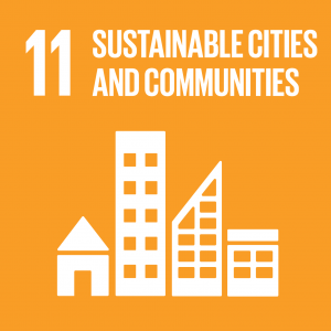 icon for SDG 11 sustainable cities and communities
