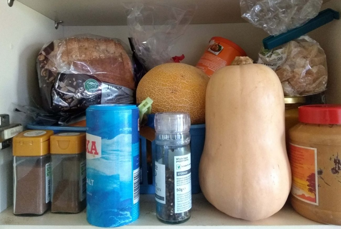 food resilience - a UK food cupboard
