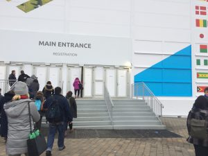 the main entrance to COP24