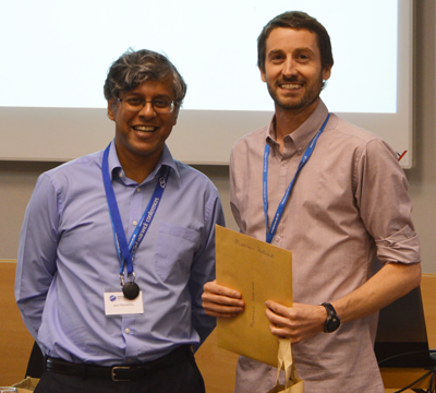 Matt with Professor John Remedios, Director of the National Centre for Earth Observation.