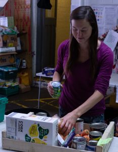 Grantham Scholar Nicole Kennard at Foodhall