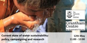 free sustainability webinars: poster for Current state of water sustainability