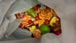 fruit in a bin
