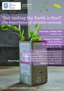 a poster for 'But Raiding The Earth Is Free' event showing speakers names and details