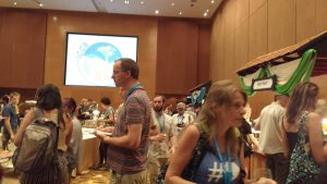 the welcome reception of the conference
