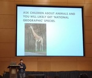 a presentation about children's knowledge of Malay wild animals