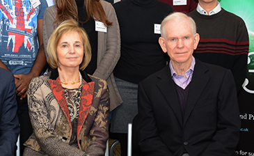 Hanne and Jeremy Grantham, visiting the University of Sheffield in December last year.