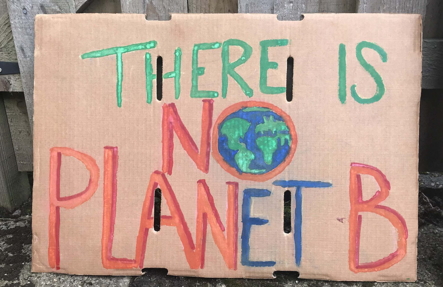 a poster for the Time Is Now march which reads there is no planet b