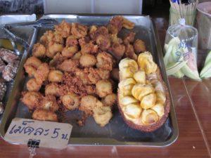 Fried cempedak at a market in Thailand – Yum! Photo credit: Nyree Zerega