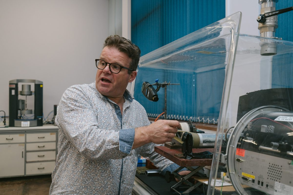 Tony Ryan in his lab