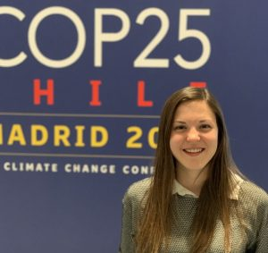 Nicole Kennard at COP25 where SDGs are hugely important