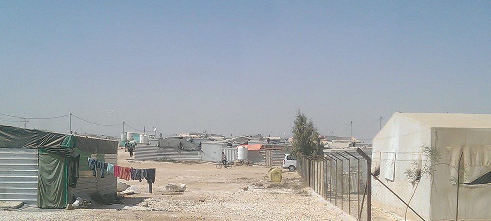 temporary houses at Za'atari refugee camp